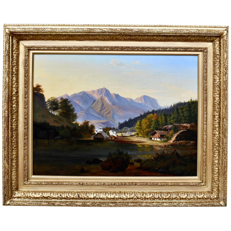 """Alpine Village at Sunset"" by Frederik Christian Kiærskou"