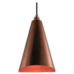 Alquimia Cono: Contemporary Polished Conical Copper Pendant Lamp