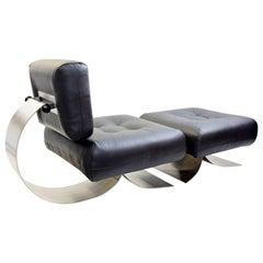 Alta Chair and Ottoman by Oscar Niemeyer - A pair available