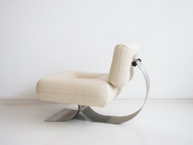 Alta Lounge Chair and Ottoman by Oscar Niemeyer 6