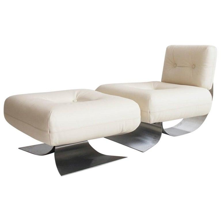 Alta Lounge Chair and Ottoman by Oscar Niemeyer