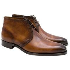 Altan Bottier Brown Leather Captoe Dress Boots SIZE 8
