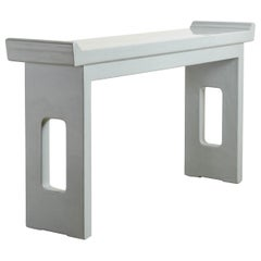 Altar Table, Grey Lacquer by Robert Kuo, Handmade, Limited Edition