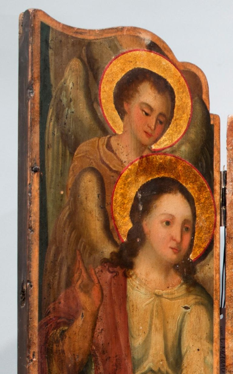 Russian Altar Triptych For Sale
