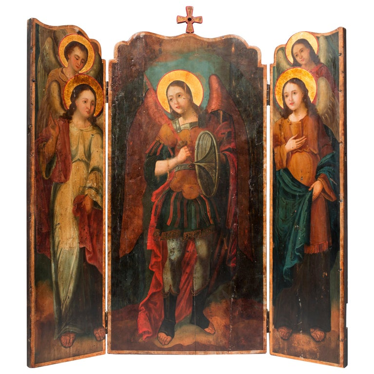 Altar Triptych For Sale