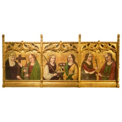 Altarpiece Fragment with Saints, Spanish School, 16th Century