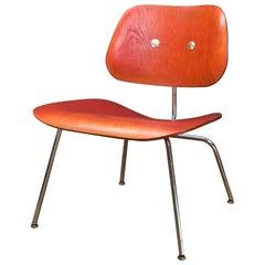Altered 1940s Red Analine Plywood Eames LCM JFK Herman Miller