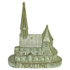 Altotting Pilgrimage Church Souvenir Building Vintage, Bavaria, Germany, 1960s