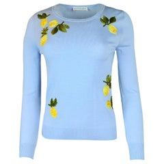 Altuzarra Lemon Embroidered Lightweight Sweater sz XS