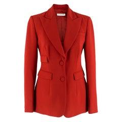 Altuzarra Red Tailored Jacket XS 36