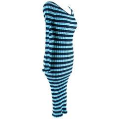 Altuzarra Socorro Off-the-shoulder Striped Stretch-knit Dress S 42