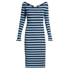 Altuzarra Socorro Off-the-shoulder Striped Stretch-knit Dress - Size US 6