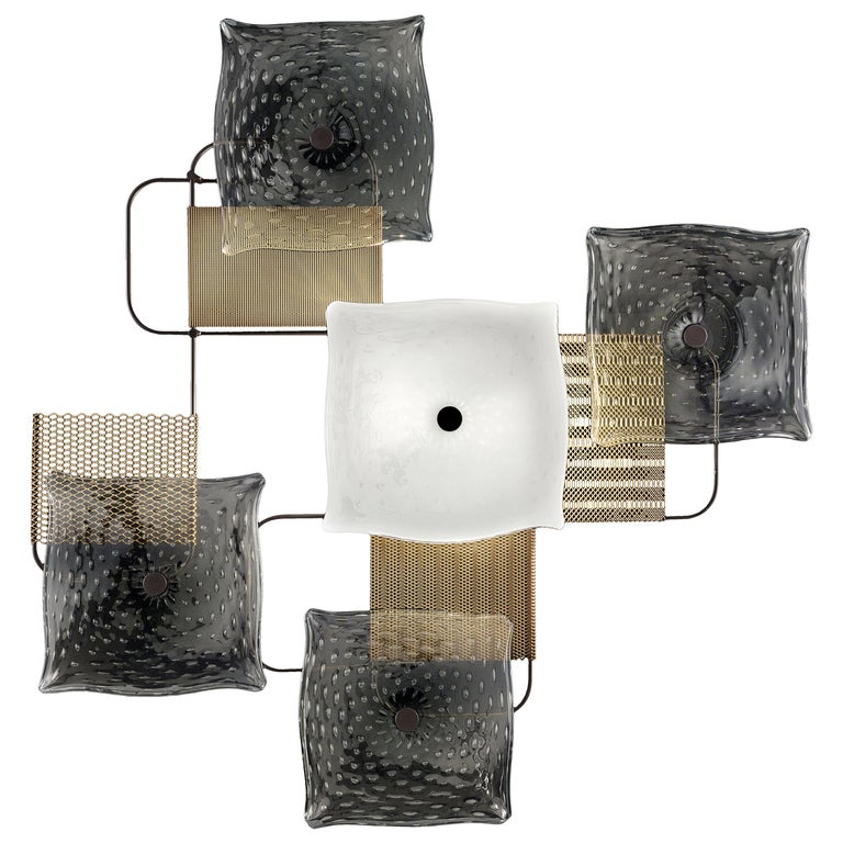 For Sale: Gray (Grey_IC) Alumina 7284 Wall Sconce in Glass, by Alessandro Piva from Barovier&Toso