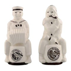 Aluminia Salt / Pepper Set in Porcelain with Advertising Logo for Hempel