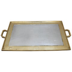 Aluminium and Brass Brutalist Style Serving Tray by David Marshall, circa 1970s