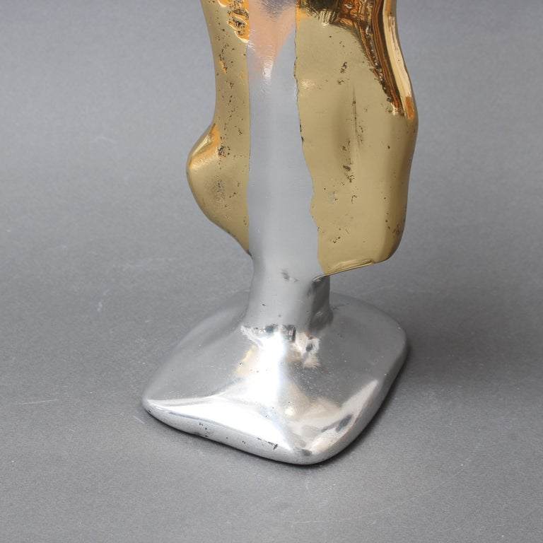 Aluminium and Brass Candle Stand in the Style of David Marshall, circa 1970s For Sale 7