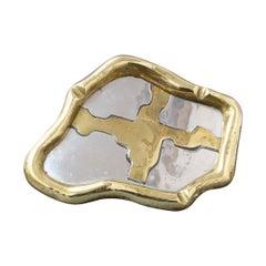 Aluminium and Brass Vide-Poche / Ashtray Attributed to David Marshall