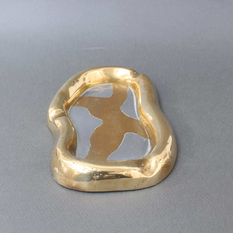Aluminium and Brass Vide-Poche by David Marshall 'circa 1980s' 3