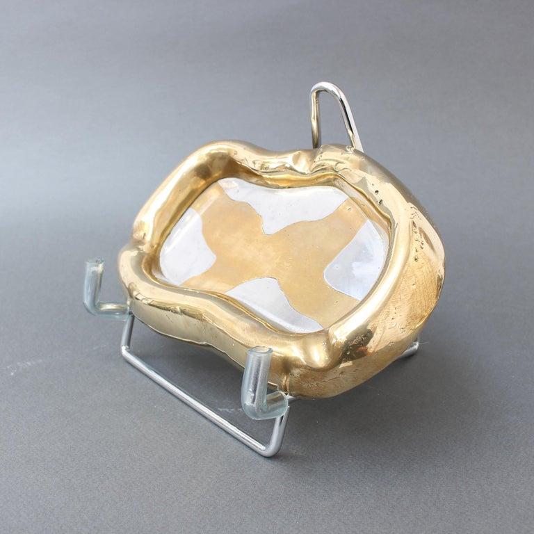 Late 20th Century Aluminium and Brass Vide-Poche by David Marshall 'circa 1980s'