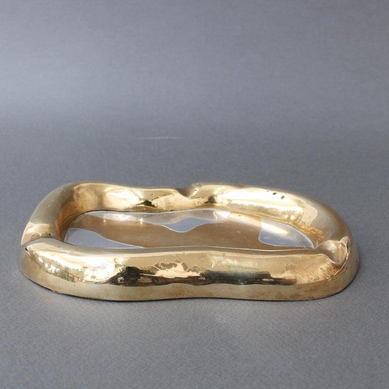 Aluminum Aluminium and Brass Vide-Poche by David Marshall 'circa 1980s'