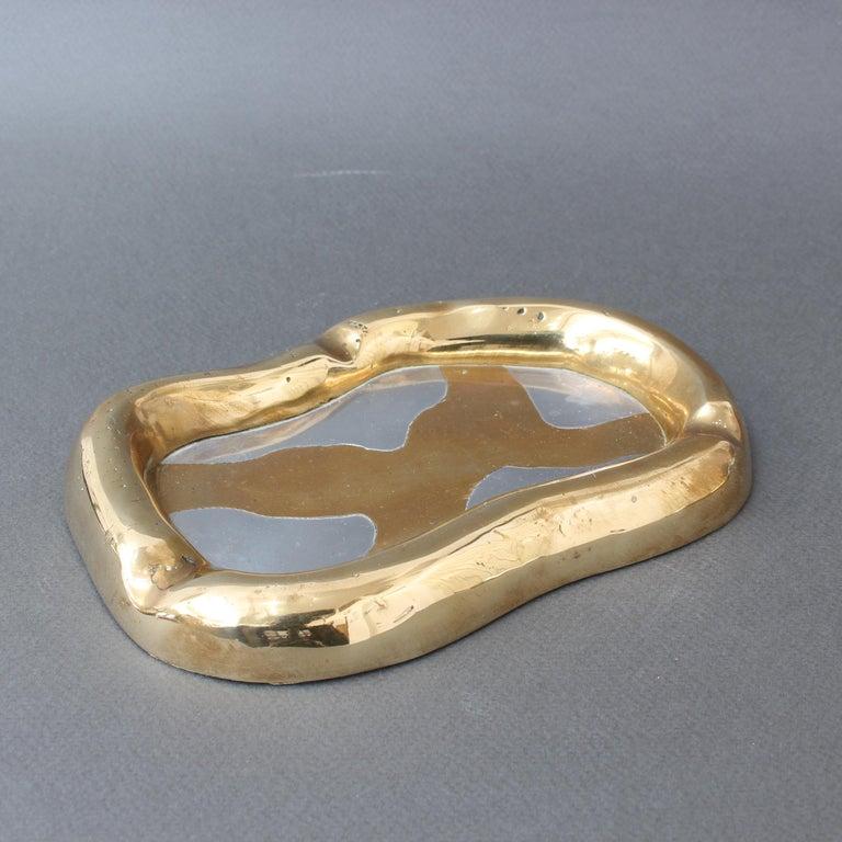 Aluminium and Brass Vide-Poche by David Marshall 'circa 1980s' 1