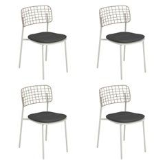 Aluminium and Stainless Steel EMU Lyze Chair, Set of 4 Items
