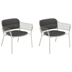 Aluminium and Stainless Steel EMU Lyze Lounge-Chair, Set of 2 Items