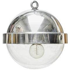 Aluminium Ball Lamp, circa 1960 from France, Aluminium and Plexyglass Polished