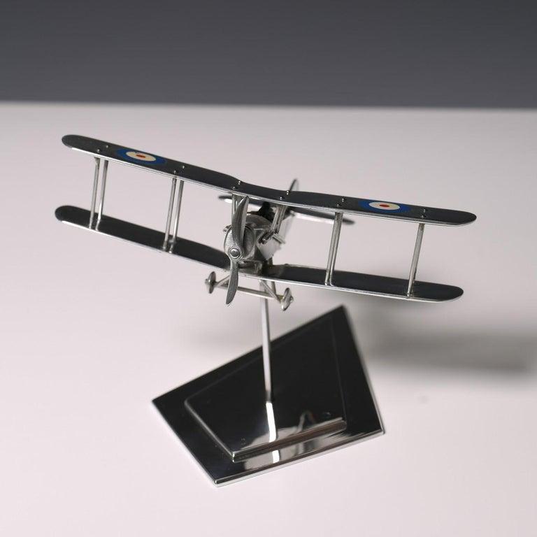 Aluminium Bi-Plane Model, circa 1980s 4