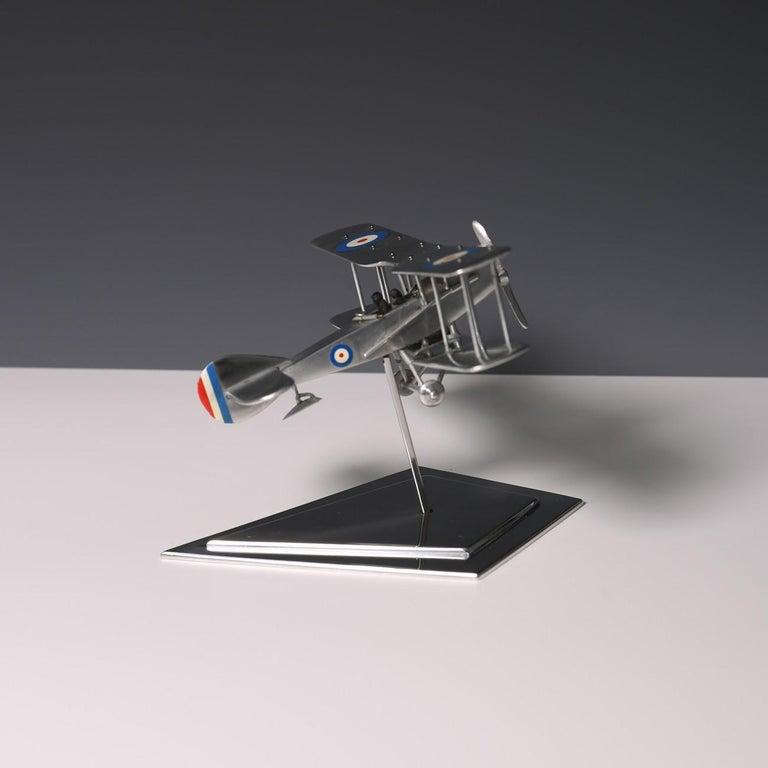 Aluminium Bi-Plane Model, circa 1980s 5