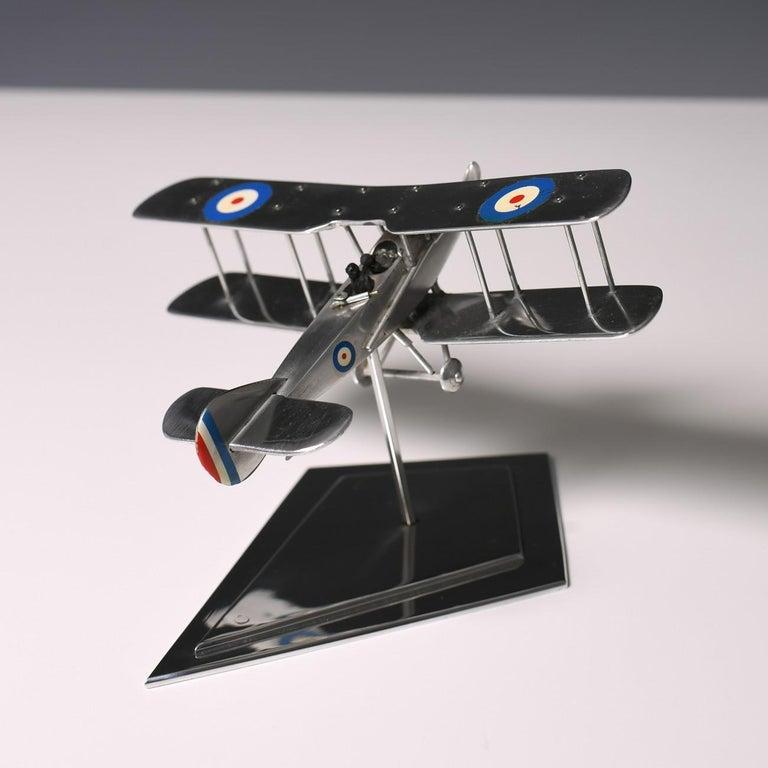 Aluminium Bi-Plane Model, circa 1980s 6