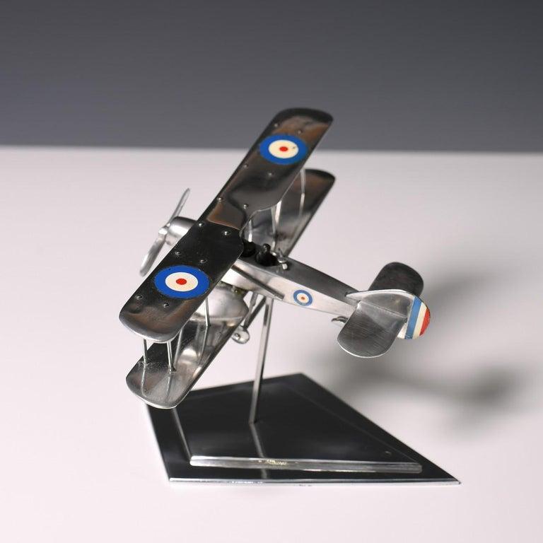 Aluminium Bi-Plane Model, circa 1980s 7