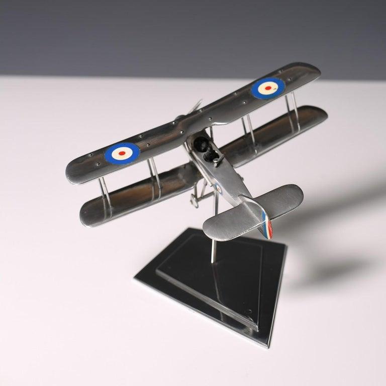 Aluminium Bi-Plane Model, circa 1980s 8