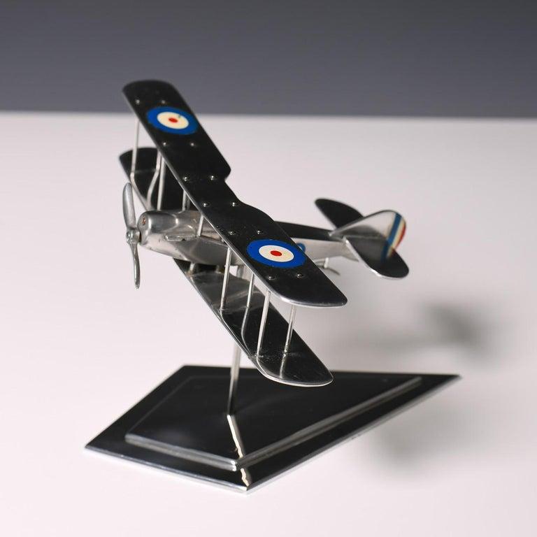 Aluminium Bi-Plane Model, circa 1980s 9