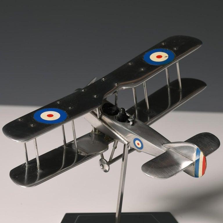 Aluminium Bi-Plane Model, circa 1980s 10