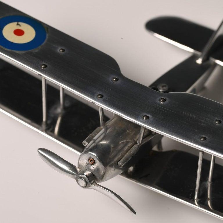 Aluminium Bi-Plane Model, circa 1980s 13