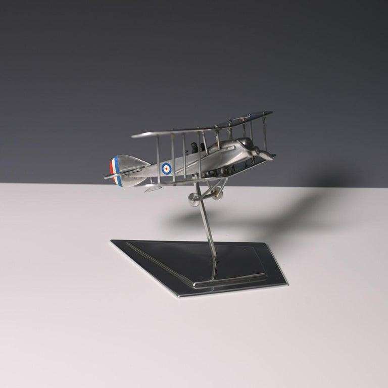 British Aluminium Bi-Plane Model, circa 1980s