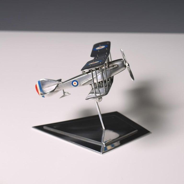 Aluminium Bi-Plane Model, circa 1980s In Good Condition In London, GB