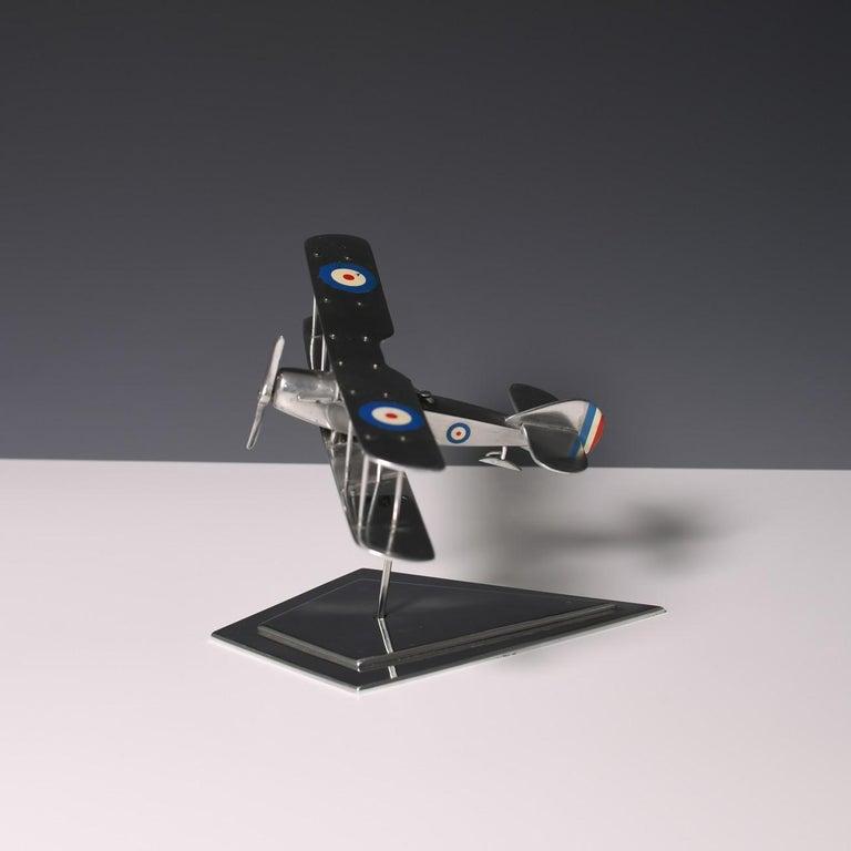 Aluminum Aluminium Bi-Plane Model, circa 1980s