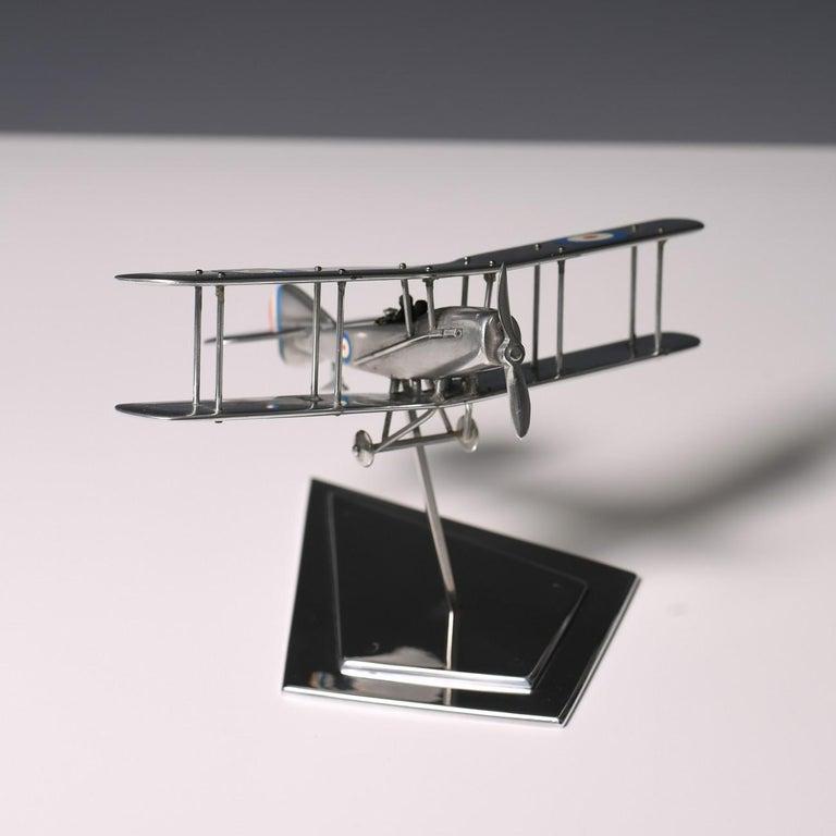 Aluminium Bi-Plane Model, circa 1980s 1