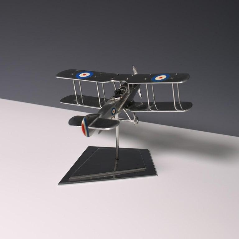 Aluminium Bi-Plane Model, circa 1980s 2