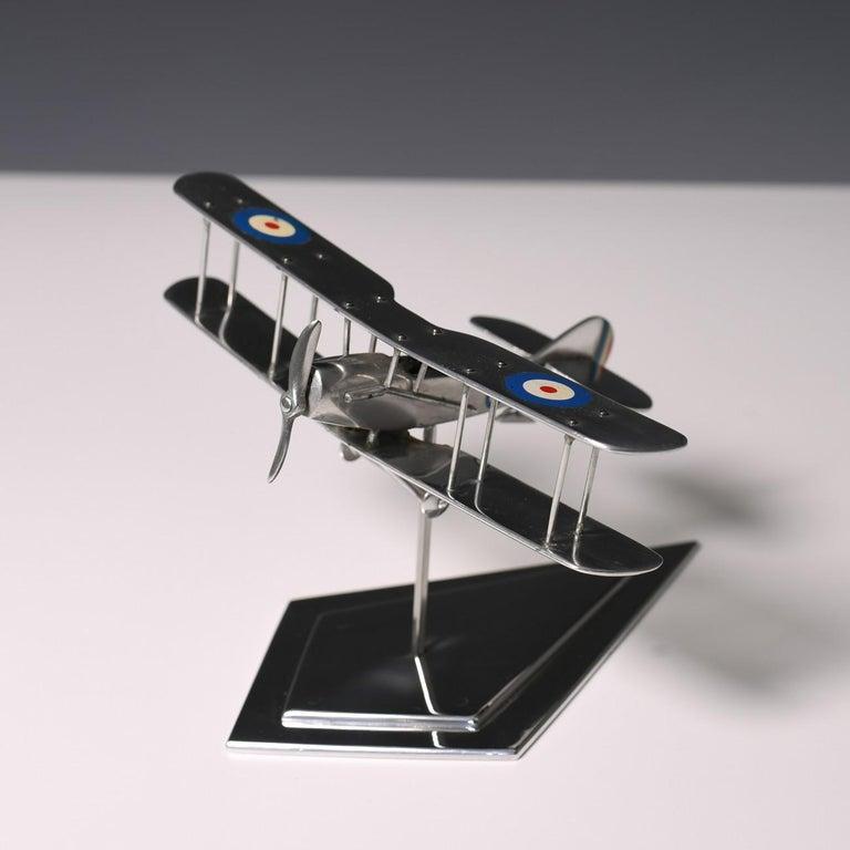 Aluminium Bi-Plane Model, circa 1980s 3