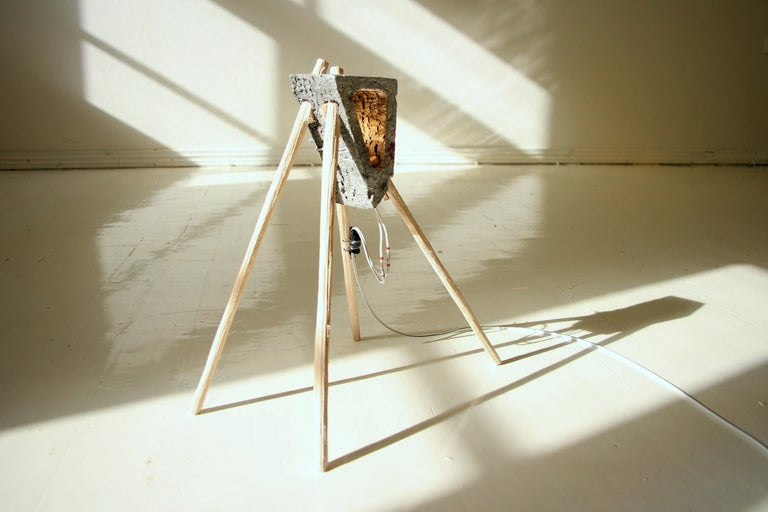 Aluminium Cast Unique Table Lamp, New Contemporary Design by Teemu Salonen,  New