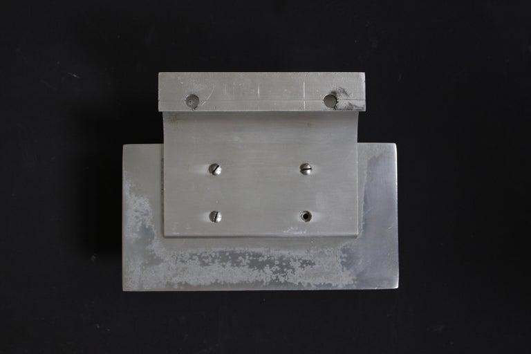 20th Century Aluminium Door Handle with Ceramic Panel, Belgium, 1960s For Sale