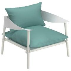 Aluminium and Eco-Leather EMU Terramare Lounge Chair
