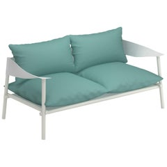 Aluminium and Eco-Leather EMU Terramare Two-Seat Sofa