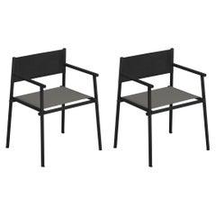 Aluminium/ Eco-Leather/Emu-Tex EMU Terramare Armchair, Set of 2 Items