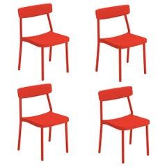 Aluminium EMU Grace Chair, Set of 4 Items
