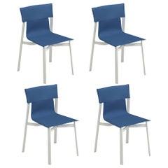 Aluminium and Emu-Tex EMU Breeze Chair, Set of 4 Items