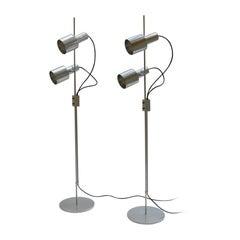 Aluminium Floor Spot Lamps Peter Nelson 1960s Architectural Lighting Ltd
